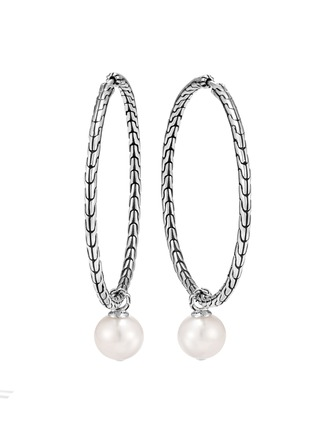 Main View - Click To Enlarge - JOHN HARDY - 'Classic Chain' freshwater pearl sterling silver earrings
