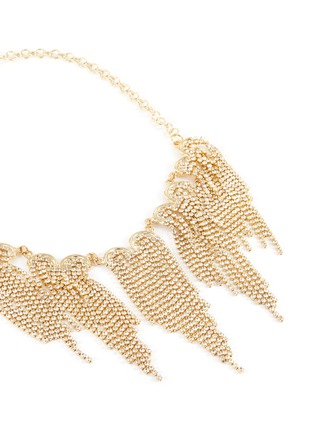 Detail View - Click To Enlarge - ROSANTICA - Graffiti' crystal embellished fringed necklace