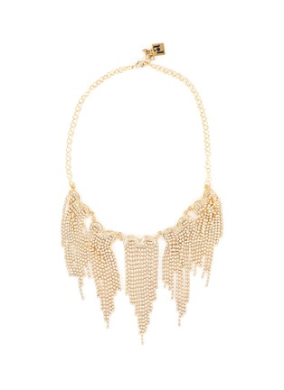 Main View - Click To Enlarge - ROSANTICA - Graffiti' crystal embellished fringed necklace