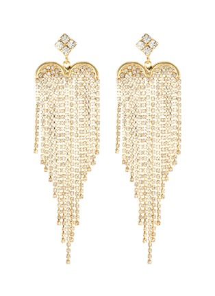 Main View - Click To Enlarge - ROSANTICA - Graffiti' crystal embellished dangle earrings