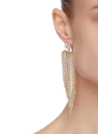 Figure View - Click To Enlarge - ROSANTICA - Graffiti' crystal embellished dangle earrings