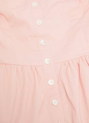 - STAUD - 'Elio' off shoulder puff sleeve dress