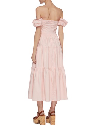 Back View - Click To Enlarge - STAUD - 'Elio' off shoulder puff sleeve dress