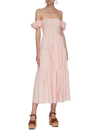 Figure View - Click To Enlarge - STAUD - 'Elio' off shoulder puff sleeve dress