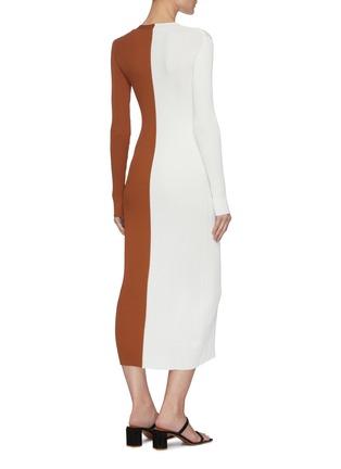 Back View - Click To Enlarge - STAUD - Shoko' panelled rib knit dress