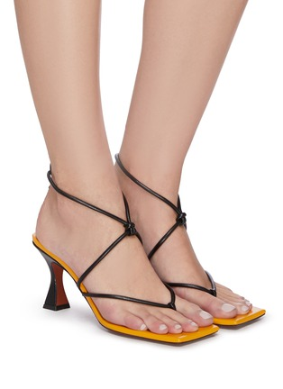 Figure View - Click To Enlarge - MANU ATELIER - Freya' lace up thong leather sandals