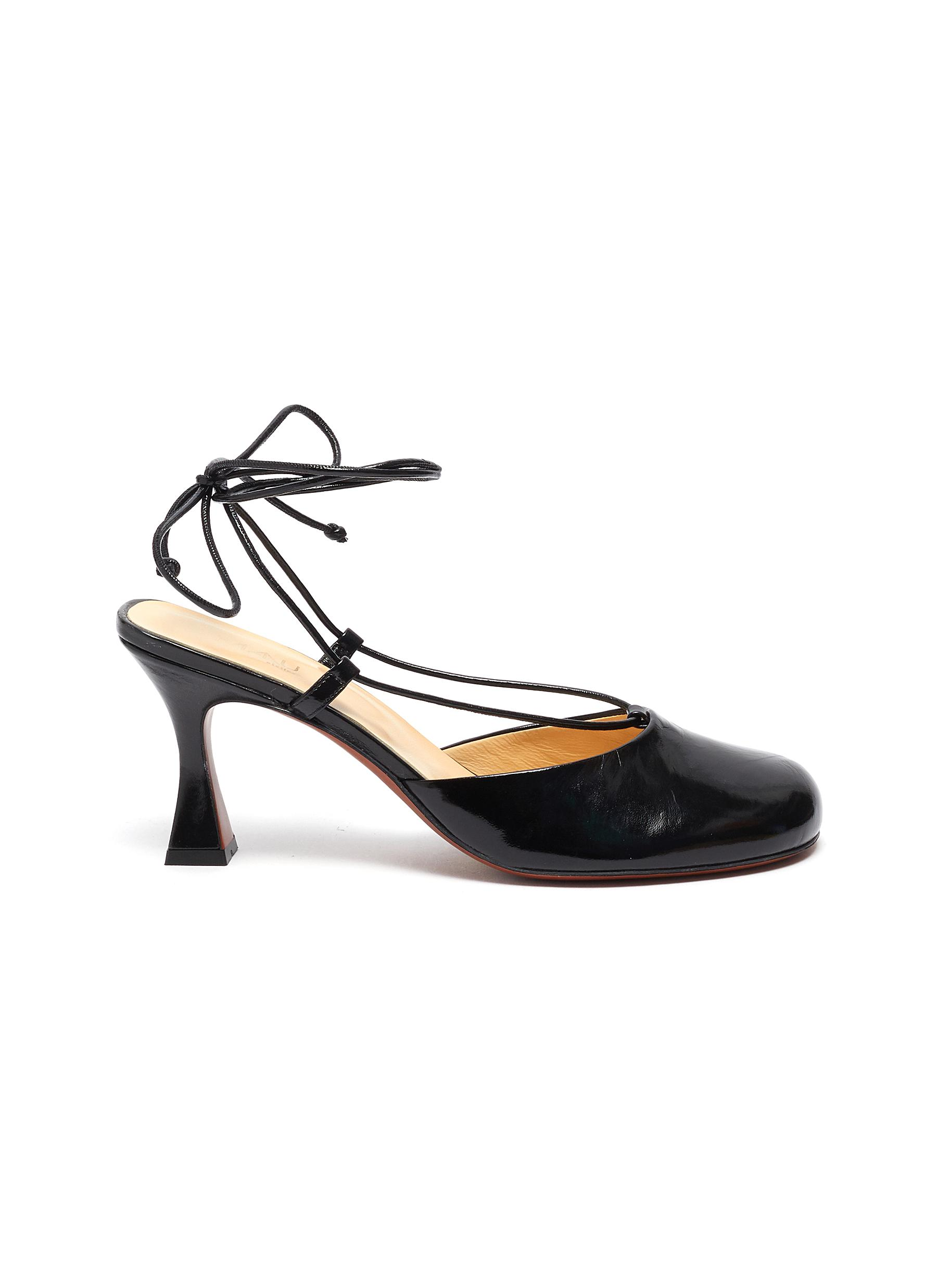 Manu Atelier High Heels Pina lace up closed toe leather heels