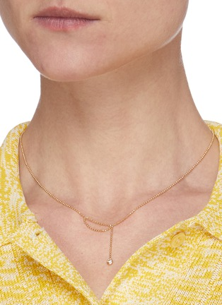 Figure View - Click To Enlarge - XIAO WANG - Elements' diamond 14K gold bead necklace