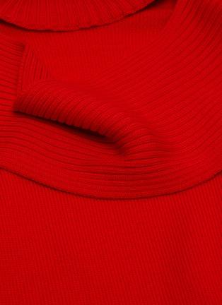 - MONSE - Back cutout rib sweater