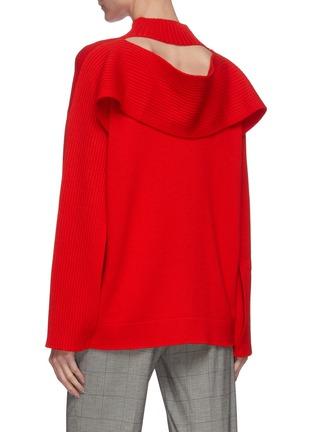 Back View - Click To Enlarge - MONSE - Back cutout rib sweater