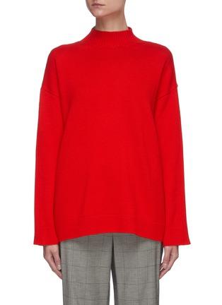 Main View - Click To Enlarge - MONSE - Back cutout rib sweater