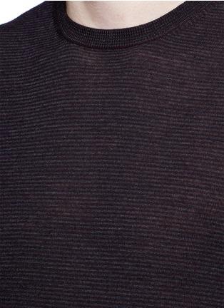 Detail View - Click To Enlarge - Altea - Stripe virgin wool sweater