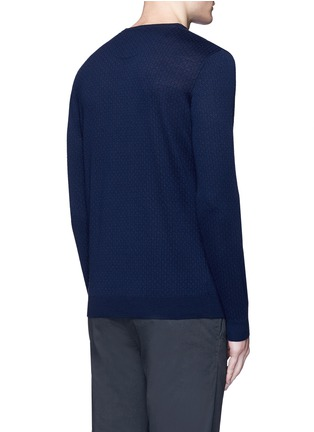 Back View - Click To Enlarge - Altea - Floral intarsia V-neck sweater
