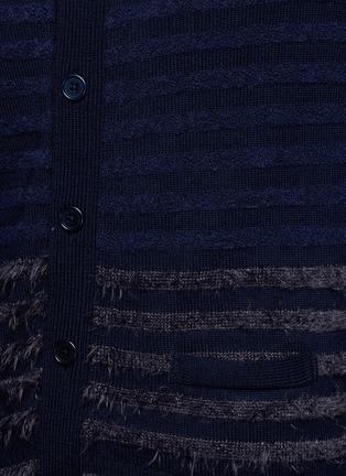 Detail View - Click To Enlarge - Altea - Bouclé stripe wool cardigan