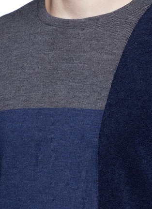 Detail View - Click To Enlarge - Altea - Bouclé colourblock wool sweater