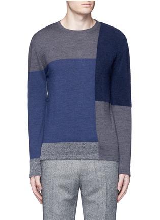Main View - Click To Enlarge - Altea - Bouclé colourblock wool sweater