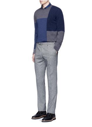 Figure View - Click To Enlarge - Altea - Bouclé colourblock wool sweater