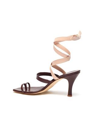 - CHRISTOPHER ESBER - 'Arta' lace up strappy mismatched leather heeled sandals