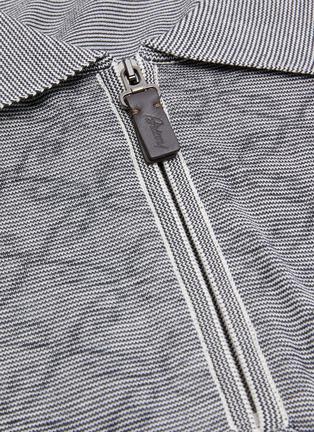 - BRIONI - Monogram jacquard polo shirt