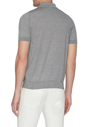 Back View - Click To Enlarge - BRIONI - Monogram jacquard polo shirt