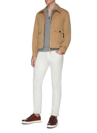 Figure View - Click To Enlarge - BRIONI - Monogram jacquard polo shirt