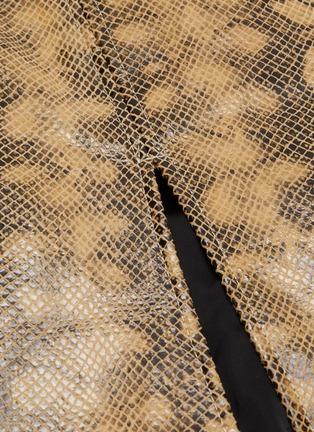 - 16ARLINGTON - Fonda snake print Nappa leather midaxi skirt