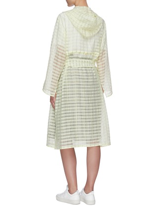 Back View - Click To Enlarge - PORTSPURE - Semi-sheer textured check trench coat