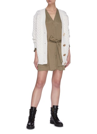 Figure View - Click To Enlarge - 3.1 PHILLIP LIM - Cable knit metal button cardigan
