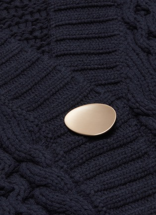 - 3.1 PHILLIP LIM - Cable knit metal button cardigan