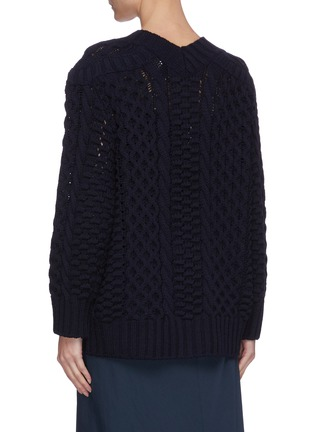 Back View - Click To Enlarge - 3.1 PHILLIP LIM - Cable knit metal button cardigan