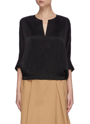 Main View - Click To Enlarge - 3.1 PHILLIP LIM - V-neck satin dolman blouse