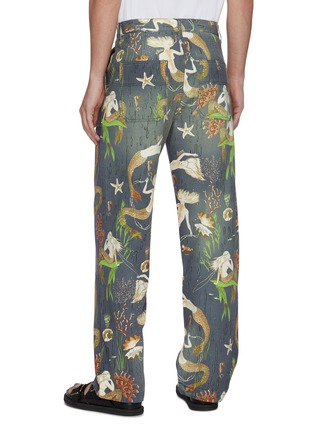 Back View - Click To Enlarge - LOEWE - 'Paula's Ibiza' mermaid print panelled denim pants