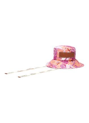 Figure View - Click To Enlarge - LOEWE - Paula's Ibiza' waterlily print canvas fisherman hat