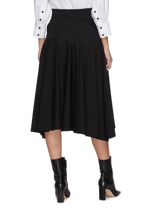Back View - Click To Enlarge - PROENZA SCHOULER - Leather foldover panel pleat skirt
