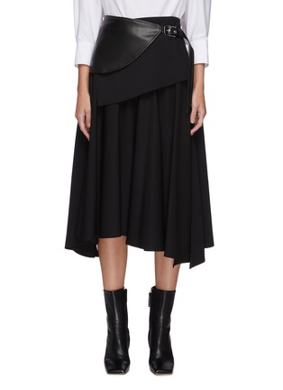 Main View - Click To Enlarge - PROENZA SCHOULER - Leather foldover panel pleat skirt