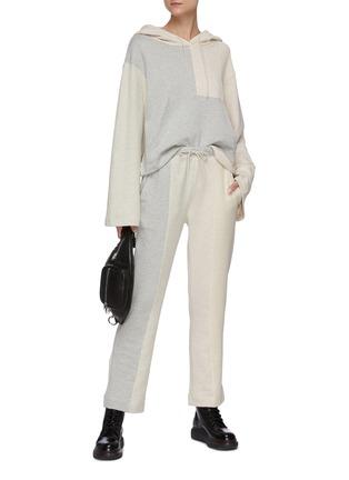 Figure View - Click To Enlarge - ÊTRE CÉCILE - Colourblock panel hoodie