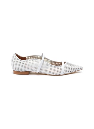 Main View - Click To Enlarge - MALONE SOULIERS - Maureen perforated leather flats