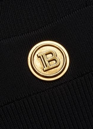 - BALMAIN - Button Flat Pocket Rib Knit Midi Skirt