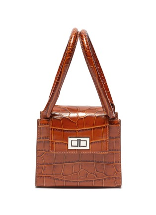 Main View - Click To Enlarge - BY FAR - 'Sabrina' croc-embossed leather top handle bag