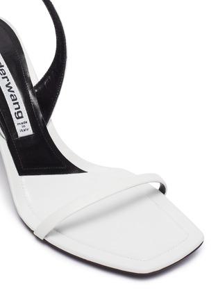 Detail View - Click To Enlarge - ALEXANDER WANG - Ivy' Rhinestone logo sling back heel sandals