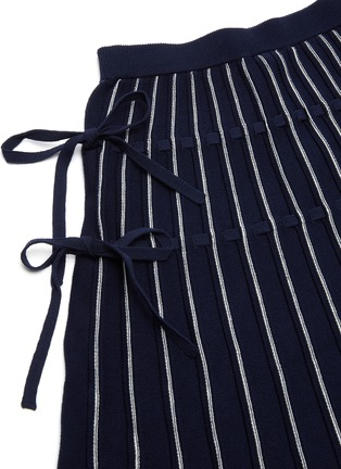 - JONATHAN SIMKHAI - Raelynn ribbon embellished stripe midi skirt