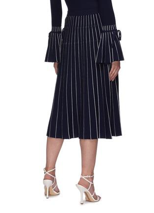 Back View - Click To Enlarge - JONATHAN SIMKHAI - Raelynn ribbon embellished stripe midi skirt