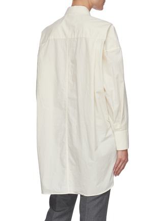 Back View - Click To Enlarge - BARENA - 'Bruno Tendon' oversized button shirt