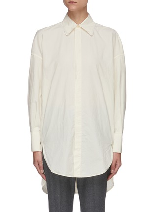 Main View - Click To Enlarge - BARENA - 'Bruno Tendon' oversized button shirt