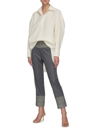 Figure View - Click To Enlarge - BARENA - 'Bruno Tendon' oversized button shirt