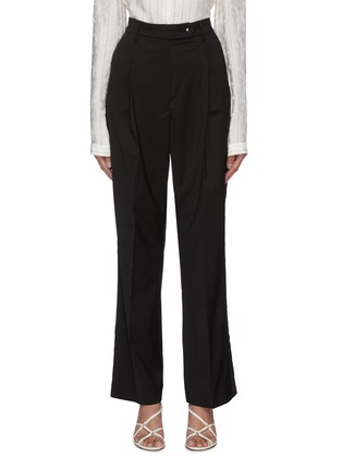 Main View - Click To Enlarge - BARENA - 'Clyde Elga' high waist pleated suiting pants