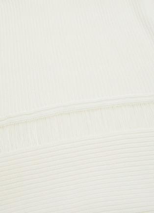 - DION LEE - Ribbed asymmetric drape midi skirt