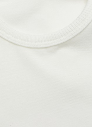 - DION LEE - Double tie shoulder cutout crop top