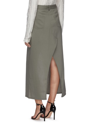 Back View - Click To Enlarge - DION LEE - Denim maxi skirt