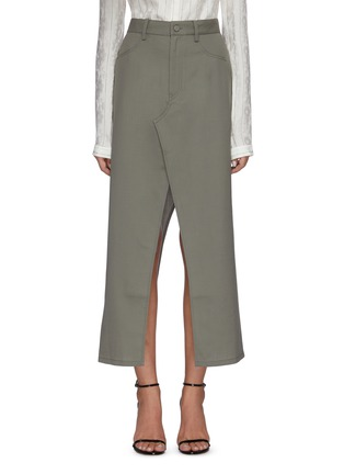 Main View - Click To Enlarge - DION LEE - Denim maxi skirt